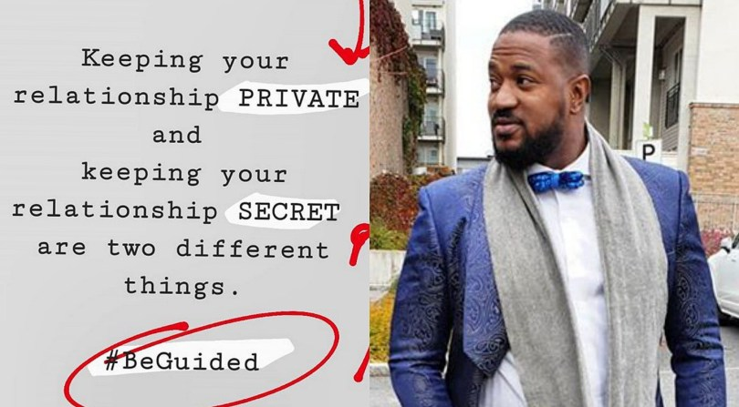 Private and Secret relationship are two different things – Actor Mofe Duncan cautions