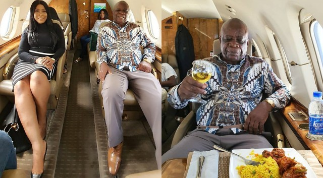 This is my dad's first time flying in a private jet – Linda Ikeji