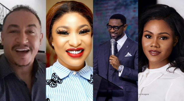 Tonto Dikeh, OAP Daddy Freeze rejoice over Busola Dakolo's loss on rape case against Pastor Fatoyinbo