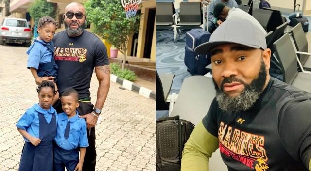 Actor Prince Eke pays his children surprise visit in school