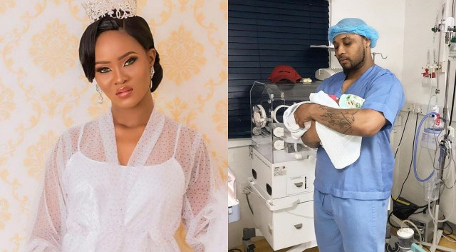 Davido's cousin, B-Red welcomes son with fiancee, Faith in U.S