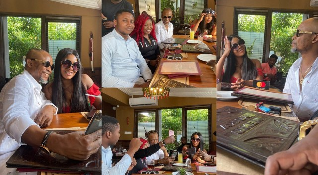 Tacha steps out for lunch in Ghana with some Ghanaian media personalities