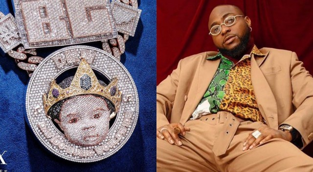 Did you know? Davido's new icebox pendant bears the face of his new born son, Ifeanyi Adeleke Jnr