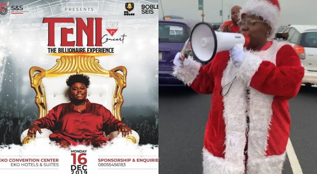 Singer Teni took to the street of Lagos to announce her first headline show