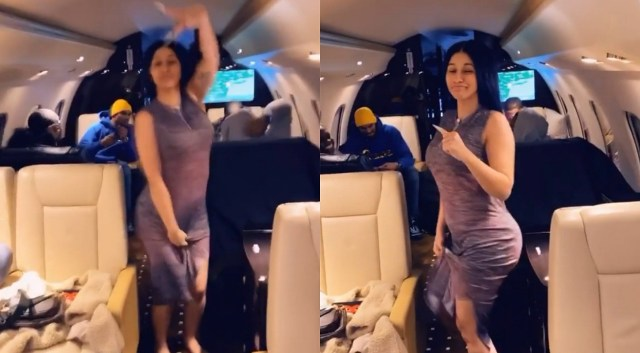 Cardi B jets to Nigeria 'jaming' her official remix of Davido's 'FALL'
