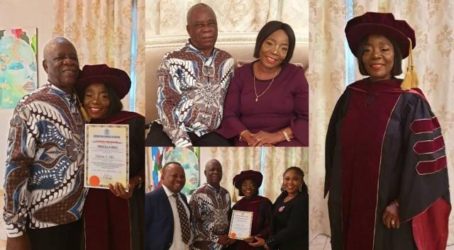 Linda Ikeji's mom Mrs Priscilla Ikeji earns a doctorate degree