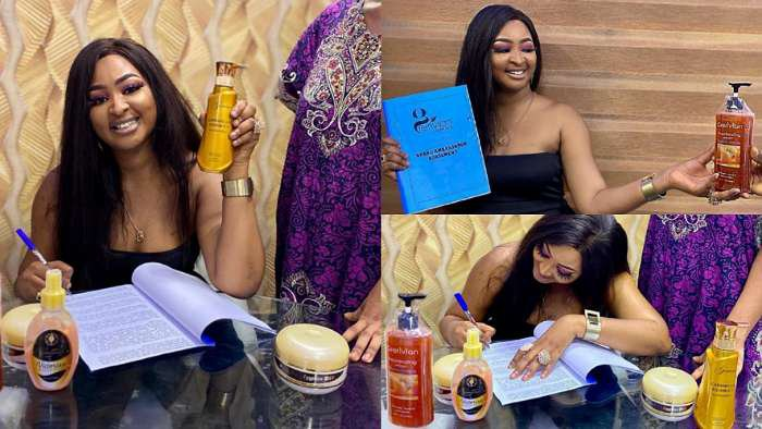 Grerivian Luxury Cosmetics signs and announces actress, Etinosa as its latest brand ambassador