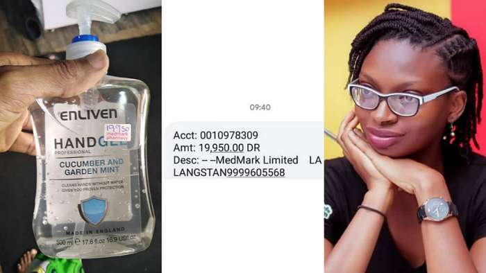 Coronavirus: Woman accuses pharmacy in Lagos of selling hand sanitizer for N19,950