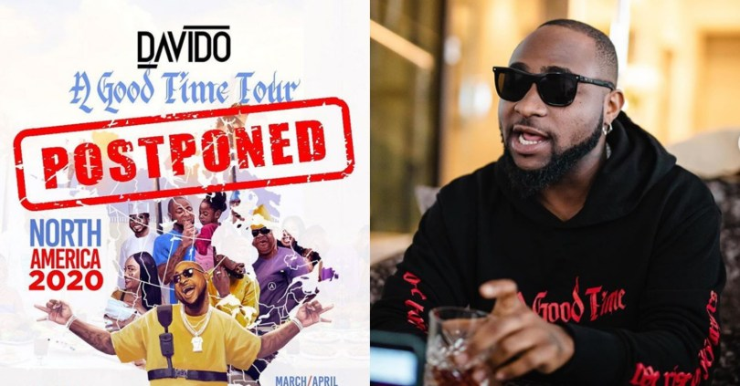 DMW Postpones Davido's North America Tour Over Fears Of Coronavirus