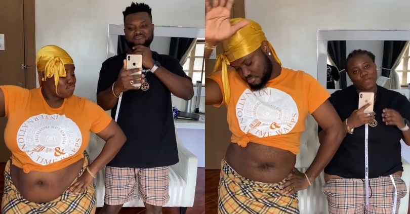 Hilarious moment Teni decided to do the #FlipFlopChallenge with Dr Dolor but her fat a*s betrayed her (video)