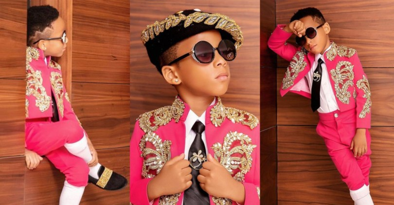 See how Toyin Lawani's son, Lord Maine, stole the show at AMVCA 2020 with this killer outfit (Photos)