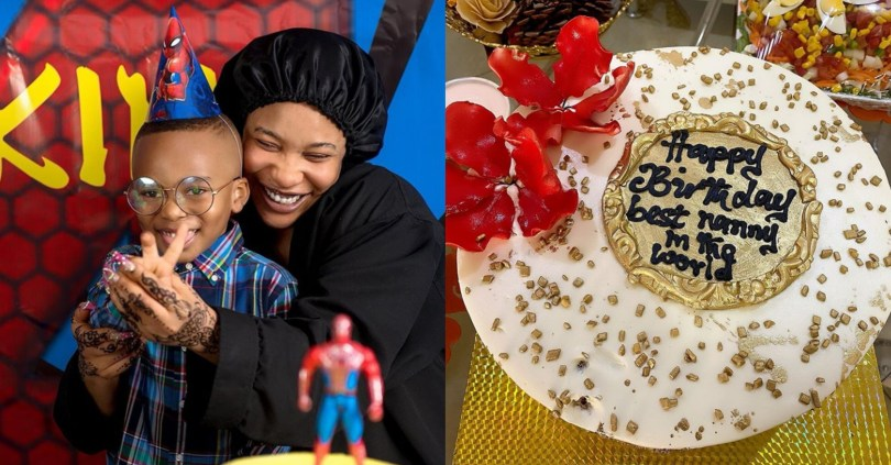 Tonto Dikeh Throws A Surprise Birthday Party For Her Son's Nanny, Gifts Her ₦400,000