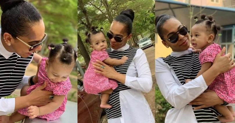 BBNaija's Tboss Melts Hearts As She Shares Adorable New Photos Of Herself And Daughter