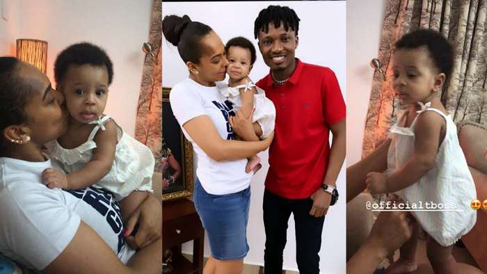 BBNaija 2017 winner, Efe visits TBoss and her child