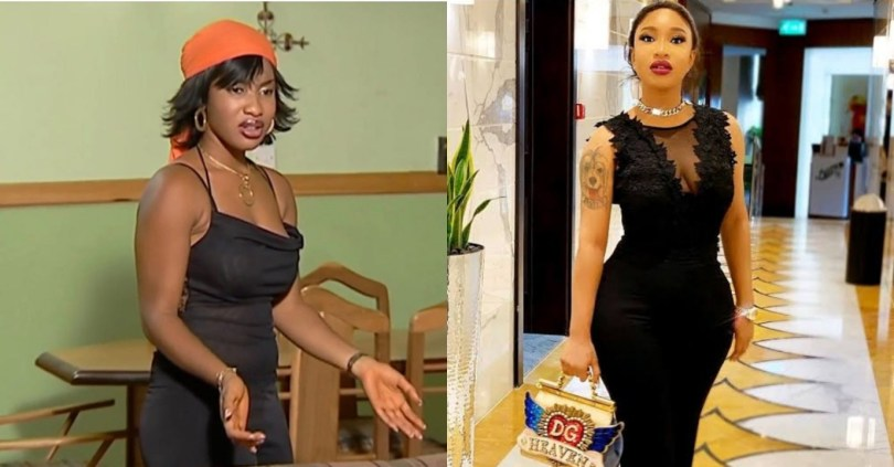 """See my flat backside, thank God for surgery"" – Tonto Dikeh mocks her old picture in a throwback post"