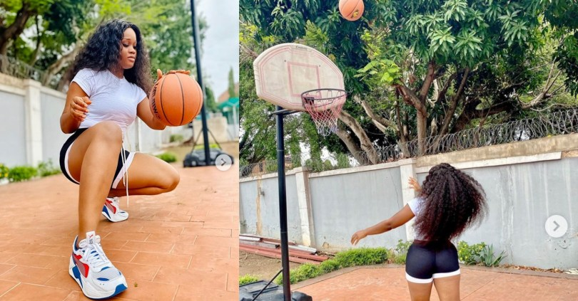 BBNaija's Cee-c serves her fans some hot 'isolation photos' of her learning basketball (photos)