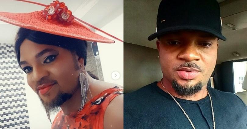 Lockdown wahala: Nollywood actor, Walter Anga, makes up and stuns like a pretty lady