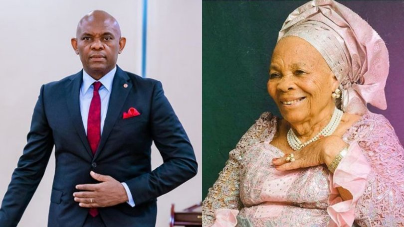 Business magnate, Tony Elumelu celebrates mom as she turns 92 years