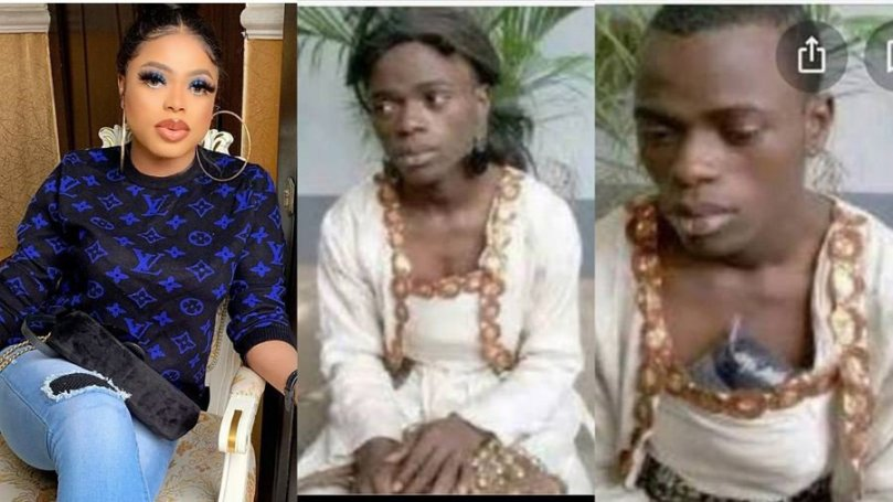 'No one asked me for giveaway when I was like this years ago' – Bobrisky says as he shares ridiculous photos of him