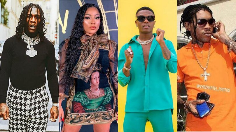 Singer Burna Boy and girlfriend, Stefflon Don clash over who's better between Wizkid and Vybz Kartel