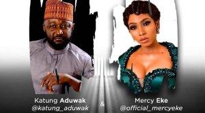 Mercy Eke links up with first BBNaija winner, Katung Aduwak