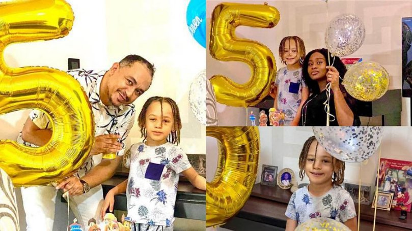 OAP Daddy Freeze sends birthday love to his son, Jason as he turns 5