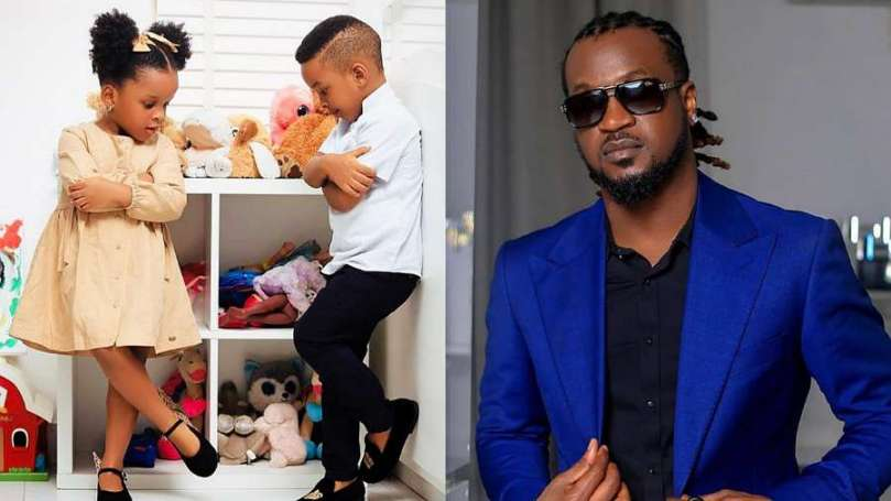 Singer Rudeboy celebrates his twins as they turn 3