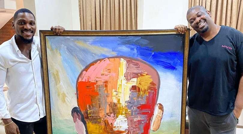 BBNaija star Tobi auctions his painting to Don Jazzy