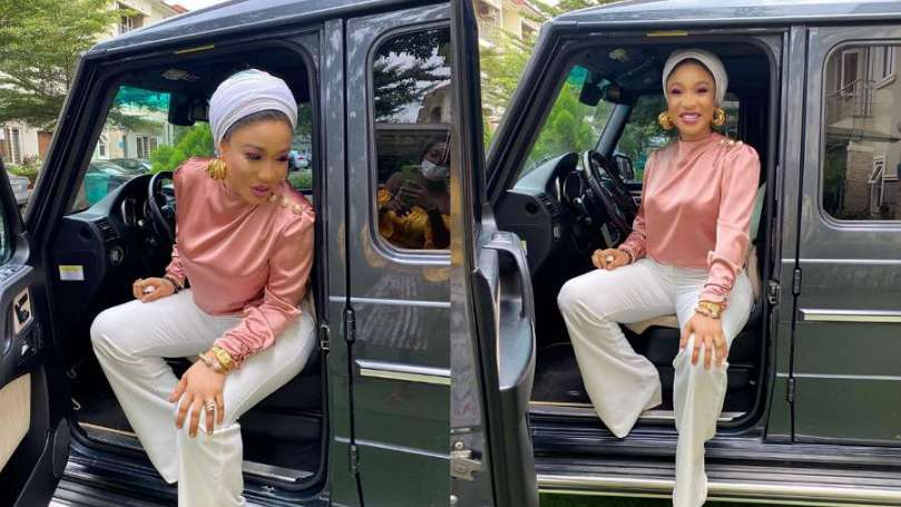 How Tonto Dikeh silently announces acquisition of new expensive car