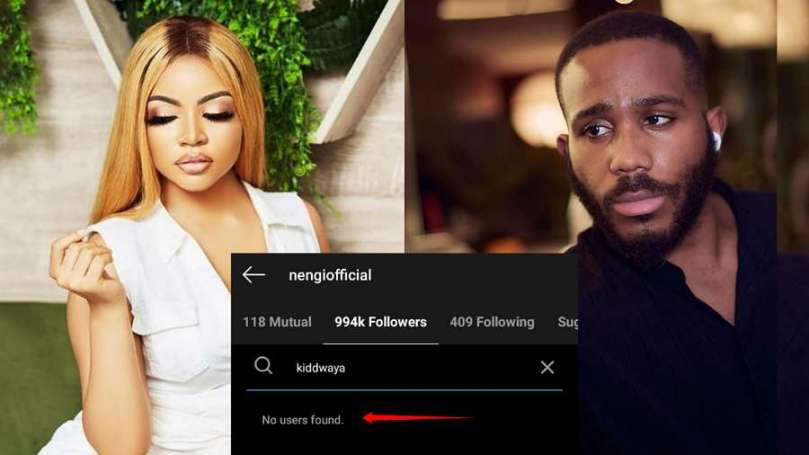 BBNaija: Kiddwaya unfollows Nengi on Instagram, see why