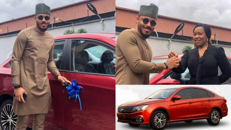 BBNaija: Ozo finally receives car prize from Innoson Motors