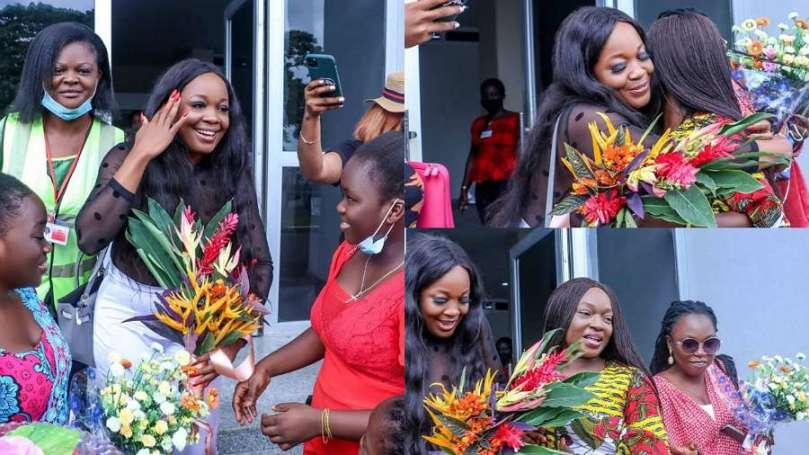 BBNaija: Fans welcome Lucy home as she touches down Calabar (photos)
