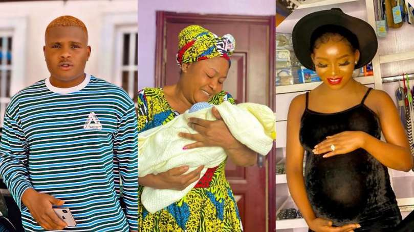 Comedian Oluwadolarz and girlfriend, Ifeoluwa become latest dad and mom