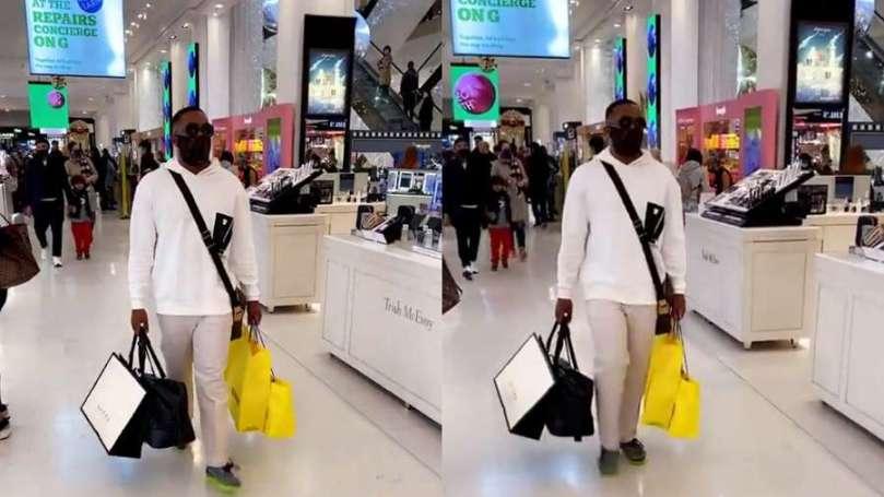 BBNaija star, Kiddwaya shops for the family on arriving London