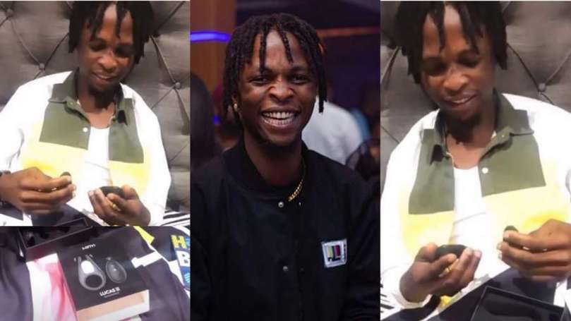 BBNaija's Laycon reacts after a fan gifts him sex toy (video)