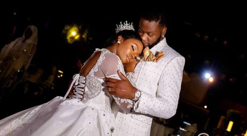 BBNaija stars Teddy A and Bam Bam celebrate one year wedding anniversary