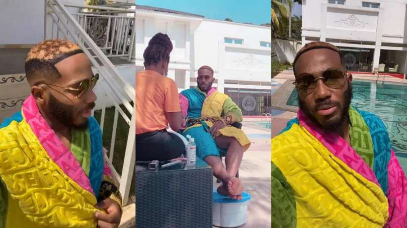 BBNaija star Kiddwaya shows off new look as he visits home in Abuja
