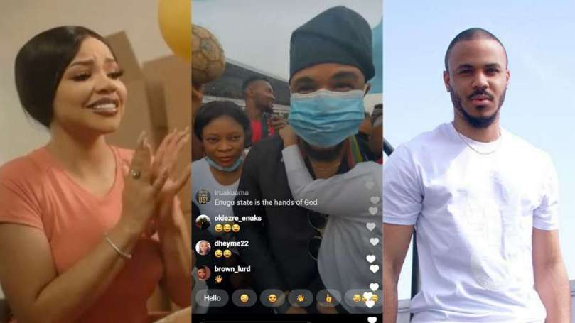 'My Superstar' – BBNaija's Nengi gushes over Ozo as he touches down Enugu State