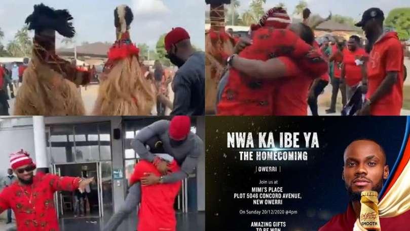 Nwa Ka Ibe Ya the Homecoming, a blast, BBNaija's Prince is loved (video)