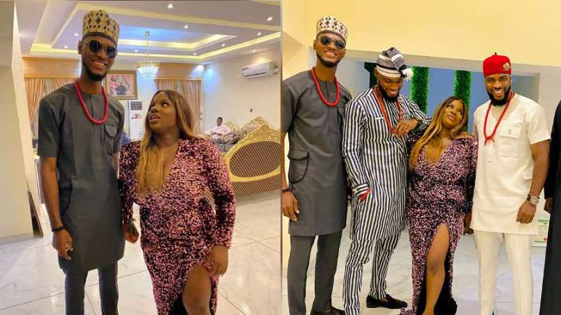 After meeting BBNaija's Dorathy for the first time, Prince's younger brother, Iyke gushes over her