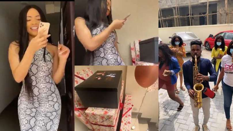 Ahead of her 23rd birthday, BBNaija Nengi's fans storm her house with gifts (video)