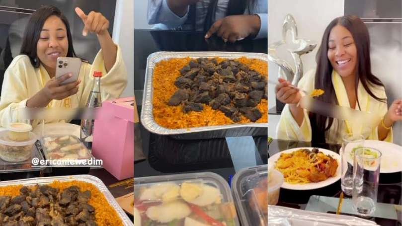 A look at BBNaija Erica's comparison of Nigerian and Ghanaian Jollof (video)