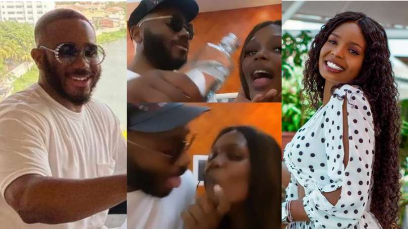 BBNaija's Kaisha denies kissing Kiddwaya at Praise's birthday party (video)