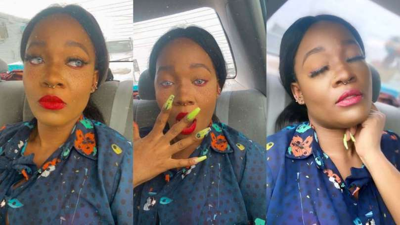 Watch moment BBNaija's Lucy embarrassed herself on Instagram live after getting drunk