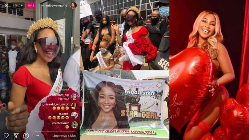 Enugu supporters show BBNaija's Erica nothing but real love – Watch highlights