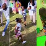 Video shows Davido cautioning his daughter Hailey as she twerks during her birthday party