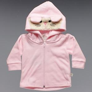 Casaco com capuz rosa Time Kids – Cód. 4788 – R$26,94