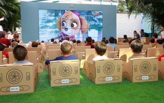 Drive-In Kids -  cineminha com personagens da Nickelodeon no Galleria Shopping