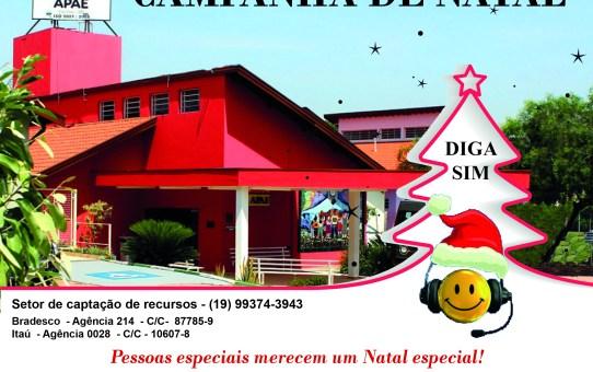 APAE está em campanha para compra de cestas de natal para os assistidos