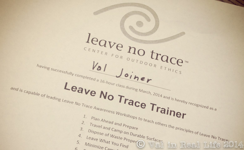 Adventures in Leave No Trace Training